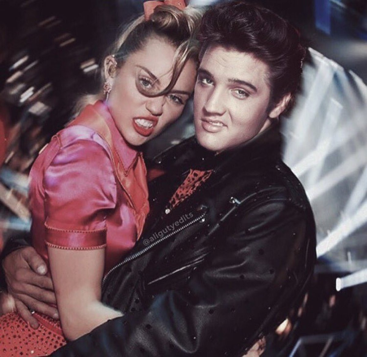 Miley with Elvis!