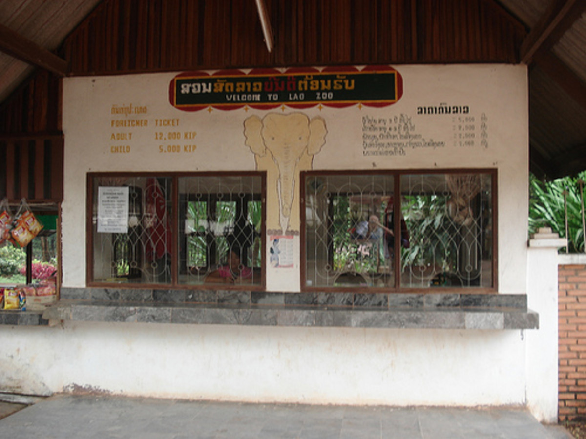 Vientiane Zoo Ticket Booth