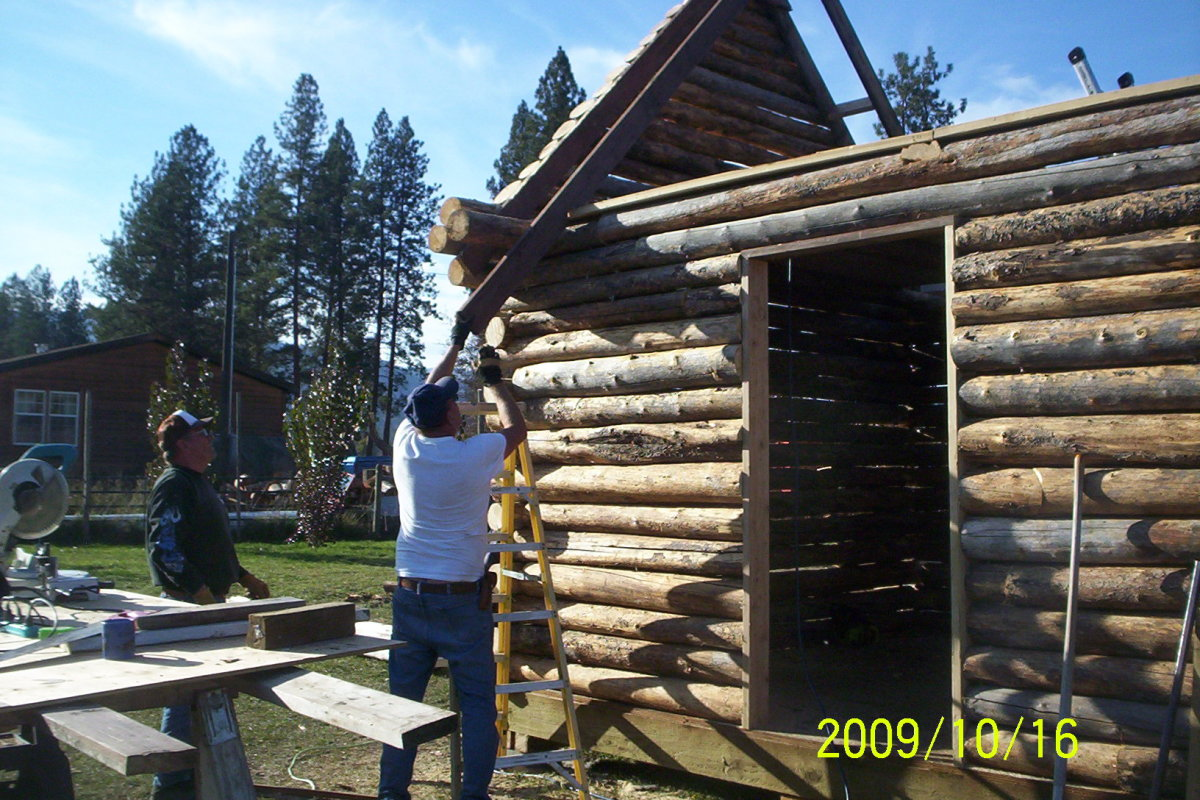 How to erect a log cabin