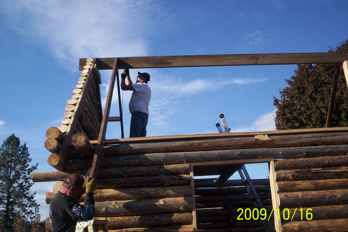 Erect a log cabin(how to)