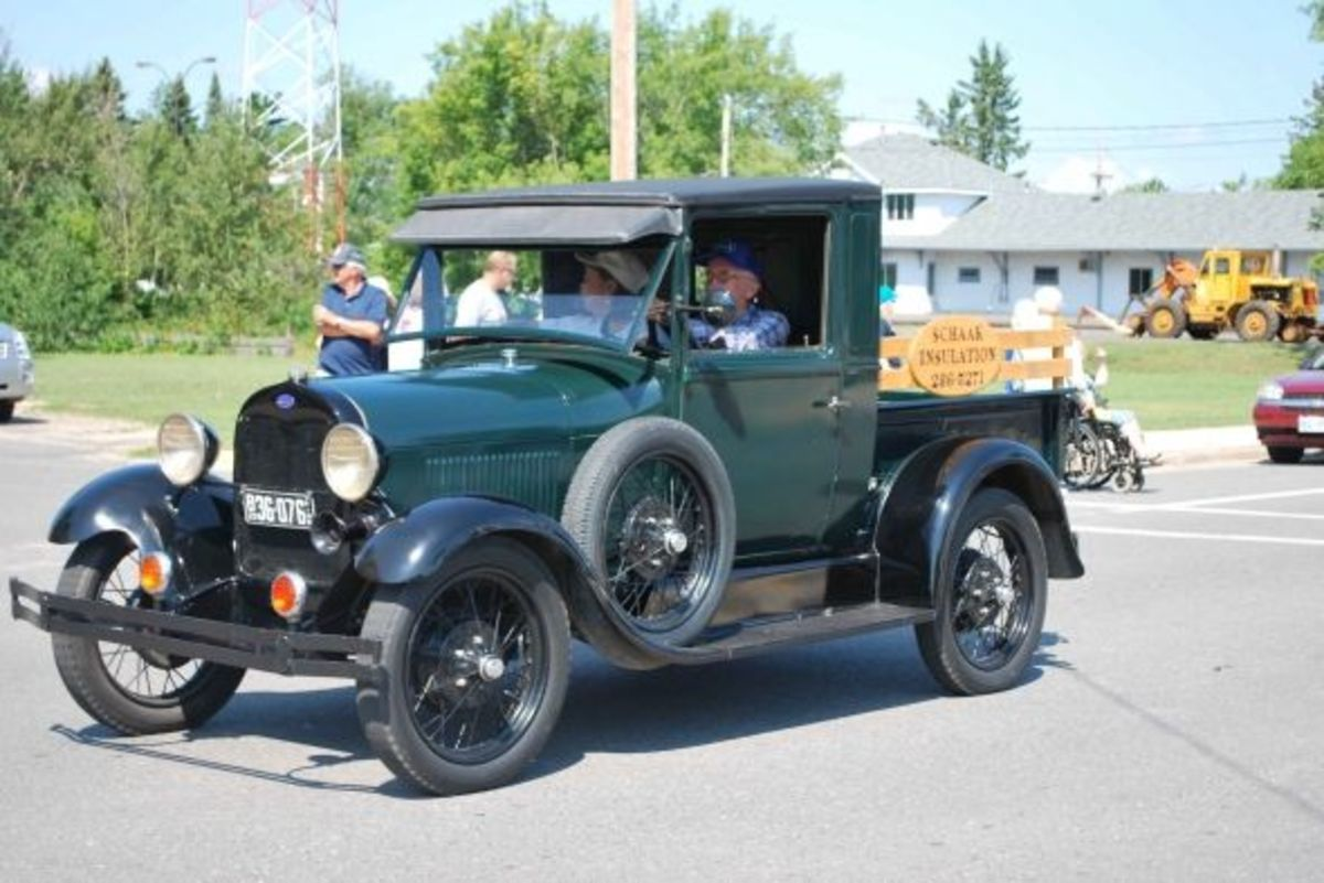 Here's a classic truck