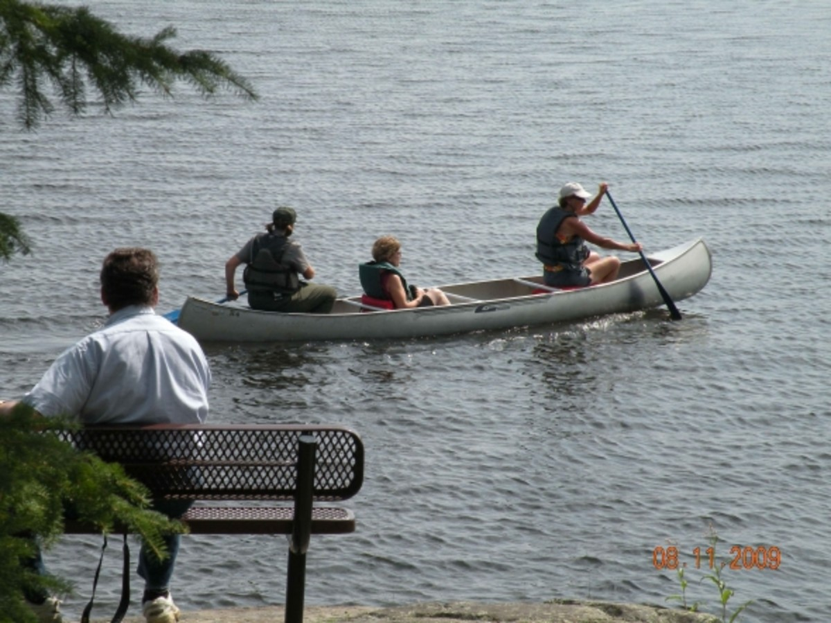 Canoe at the Visitor Center, courtesy, Ron Wilcox