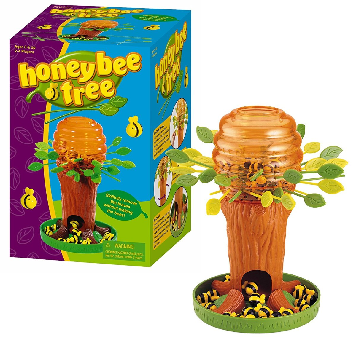 Honey Bee Tree with leaves inserted