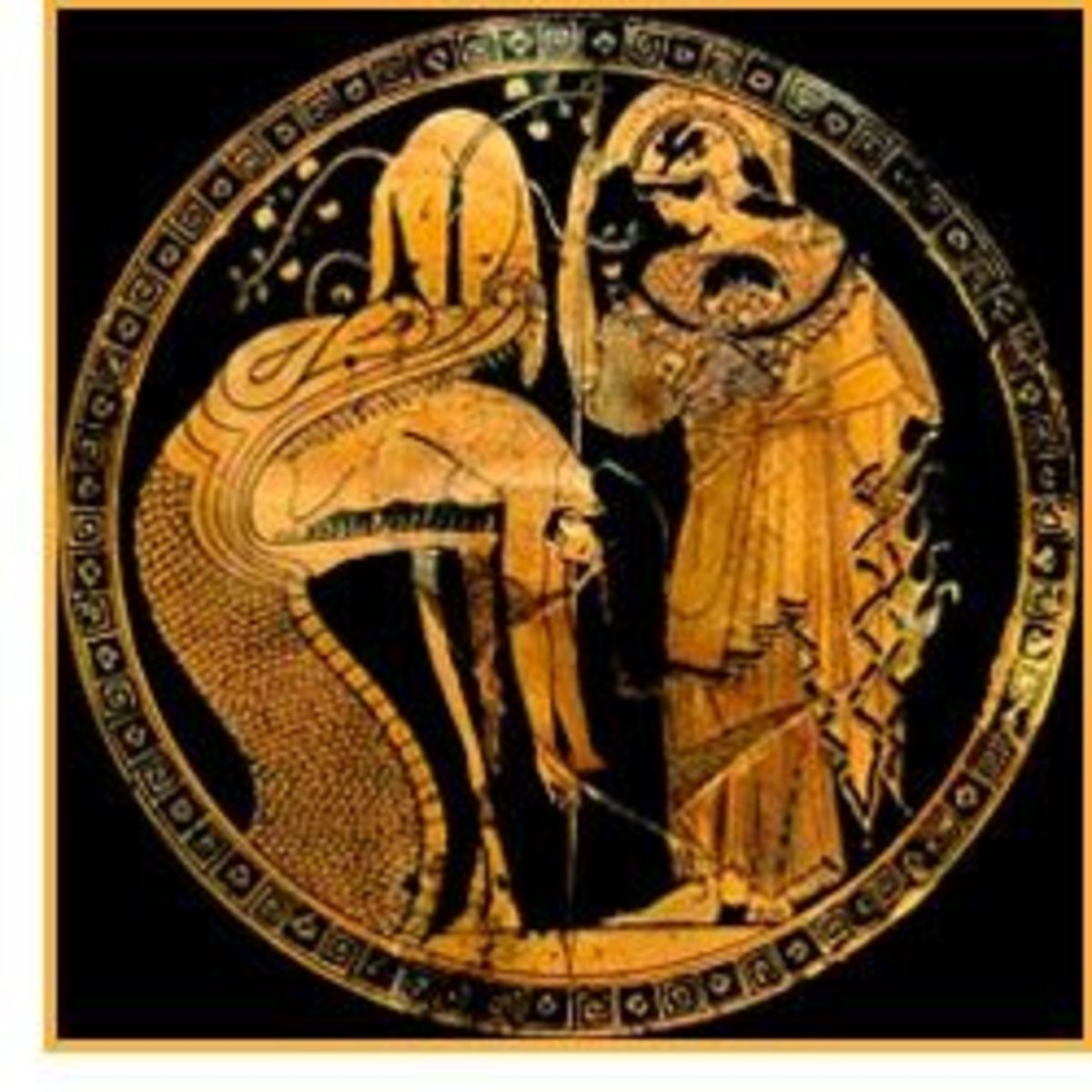 Athena frees Jason from guardian of the Golden Fleece