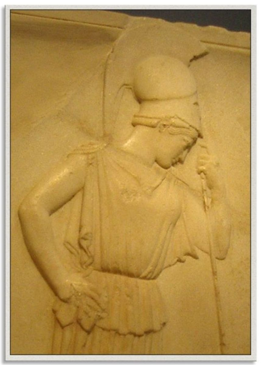 """The """"Mourning Athena"""" reads a memorial to the dead of the Persian Wars, Acropolis Museum, Athens"""