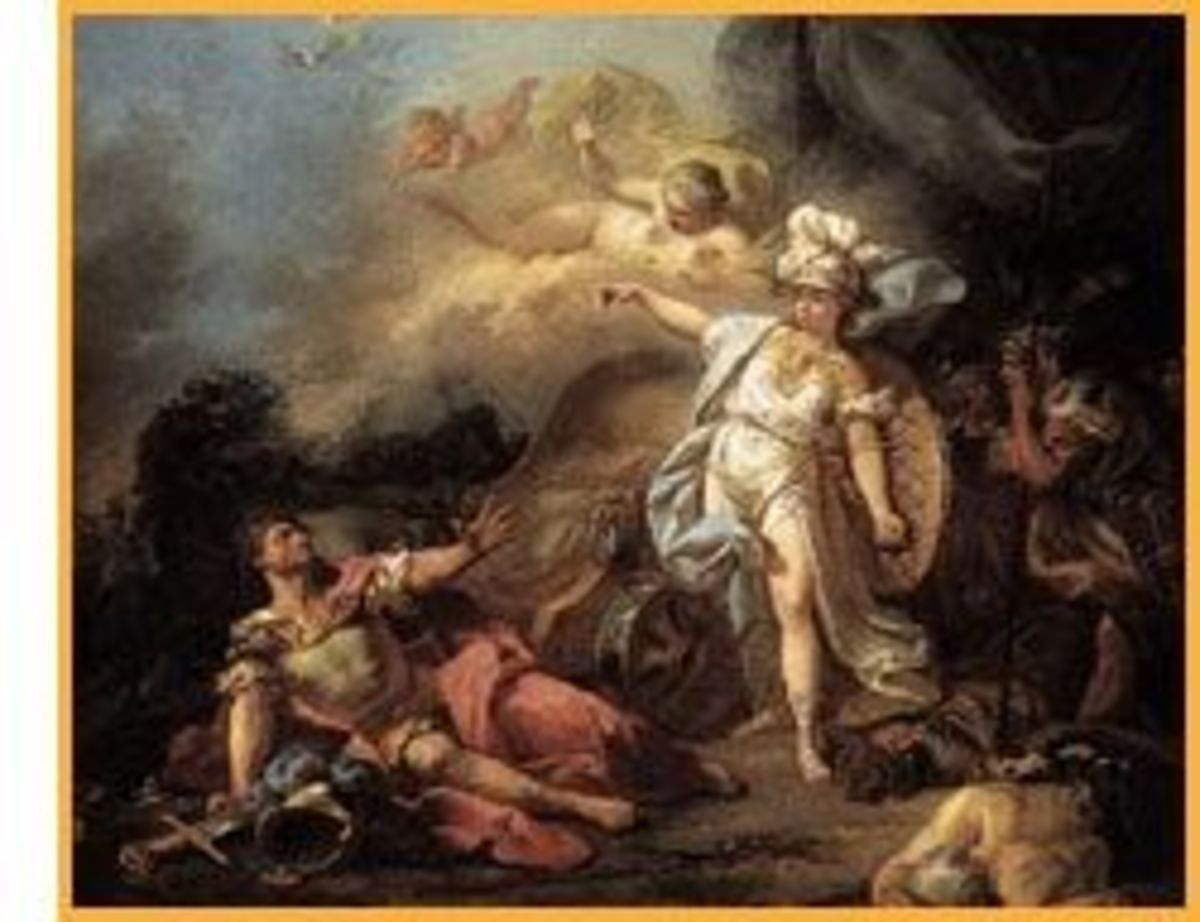 Athena vs. Ares by Jacques Louis David