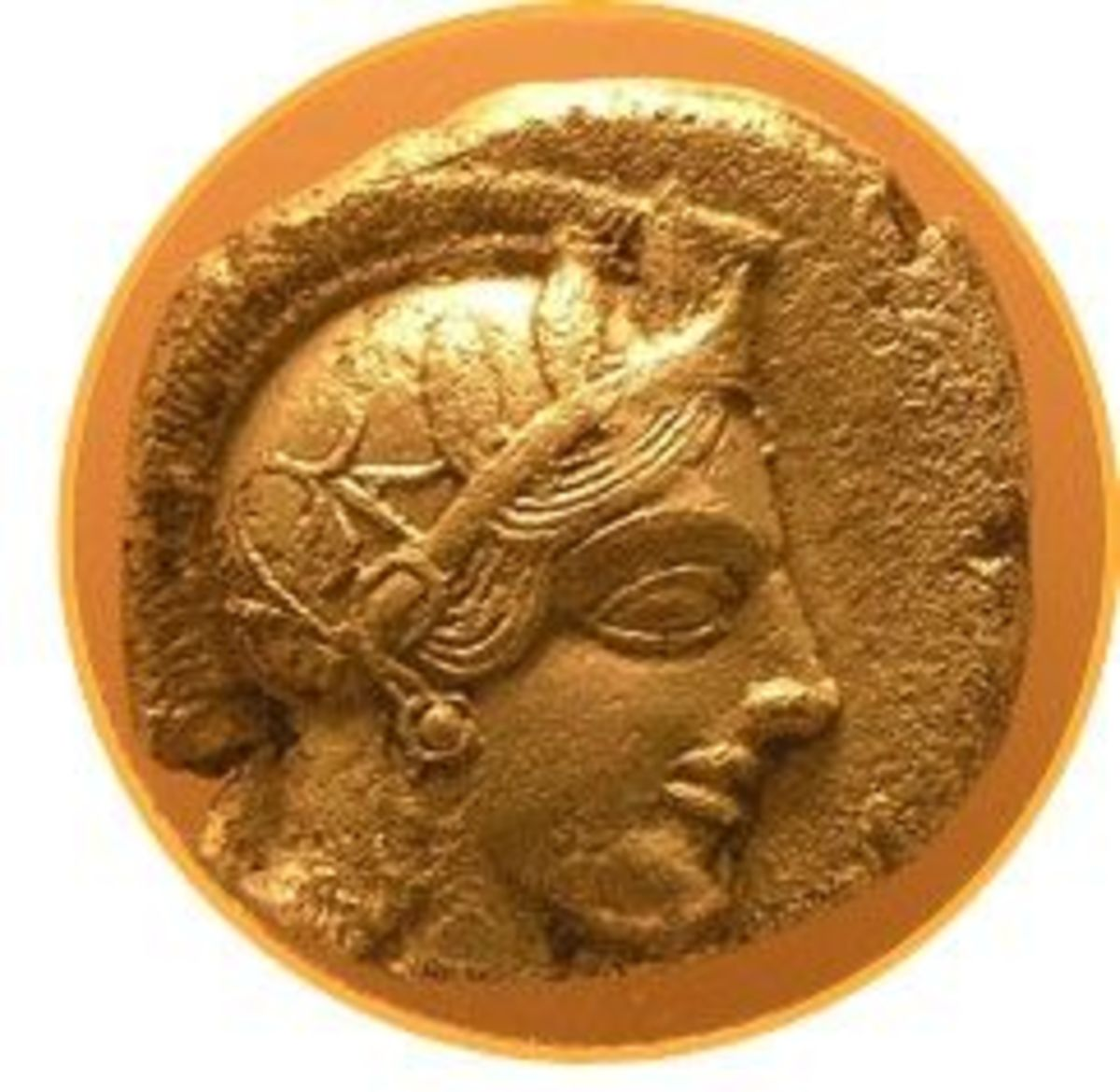 Head of Athena on a tetradrachm