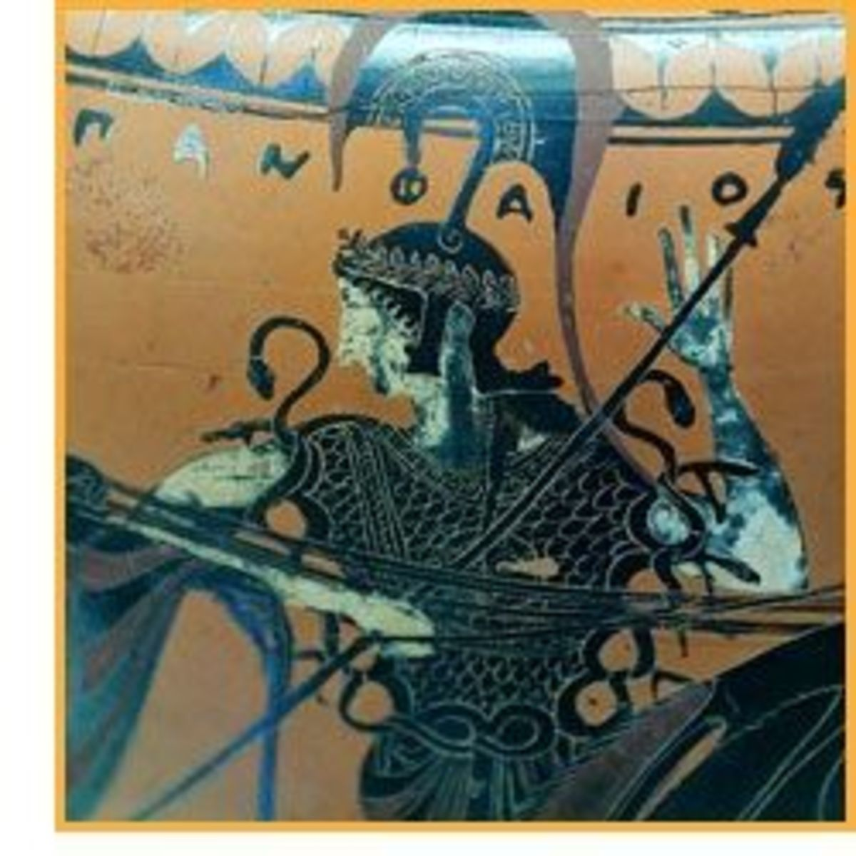 Athena on early Black-figure vase