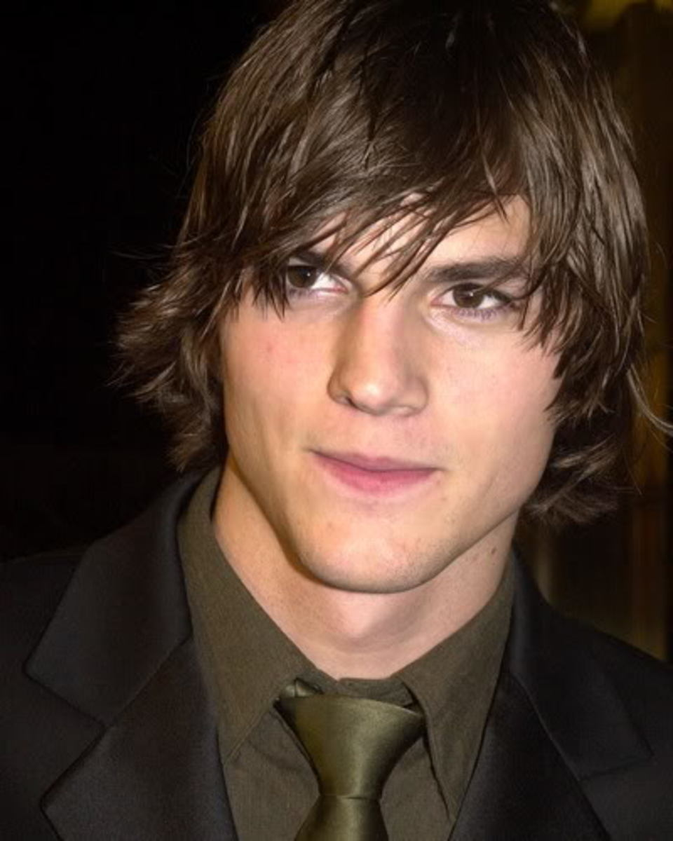 Ashton Kutcher Shaggy Hairstyle
