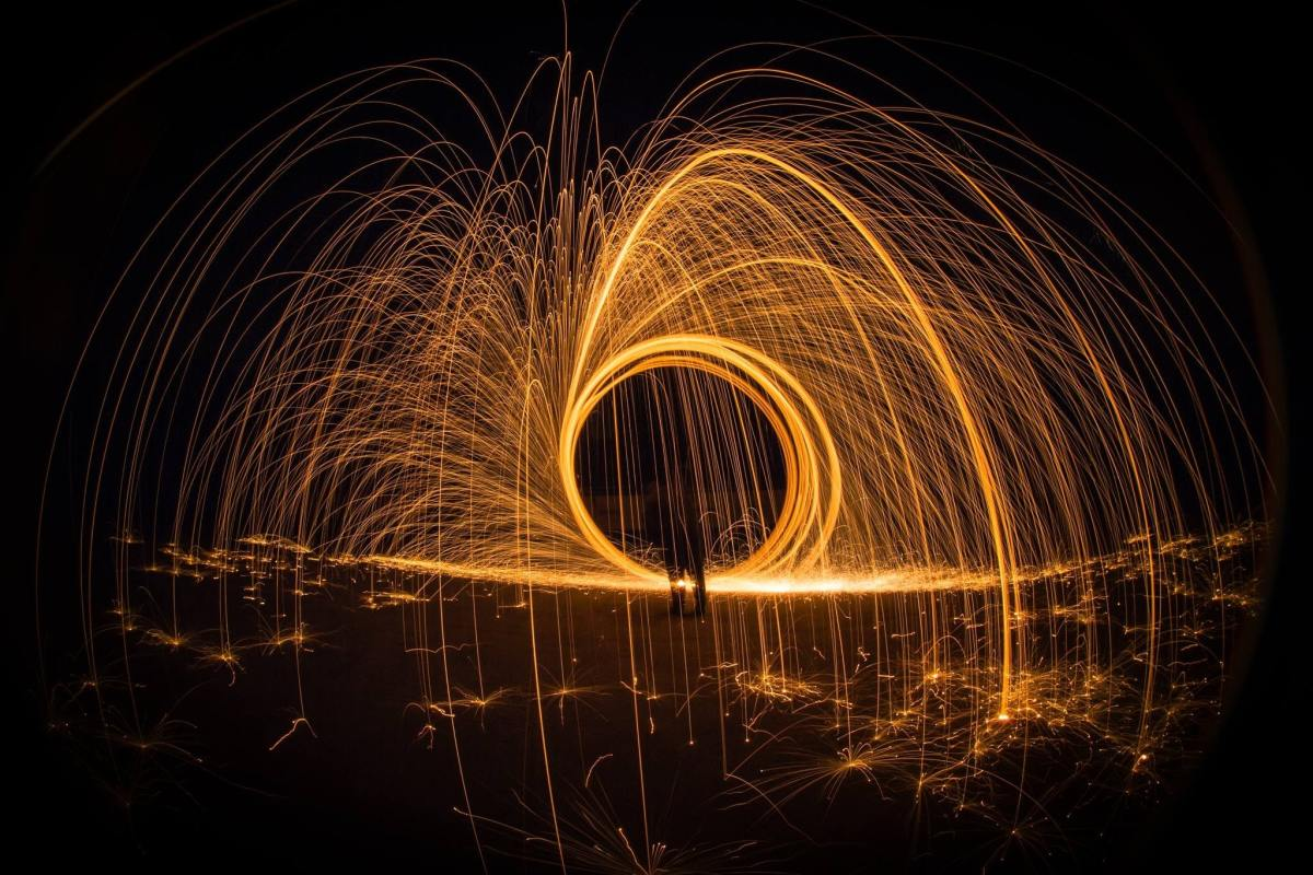 created with steelwool