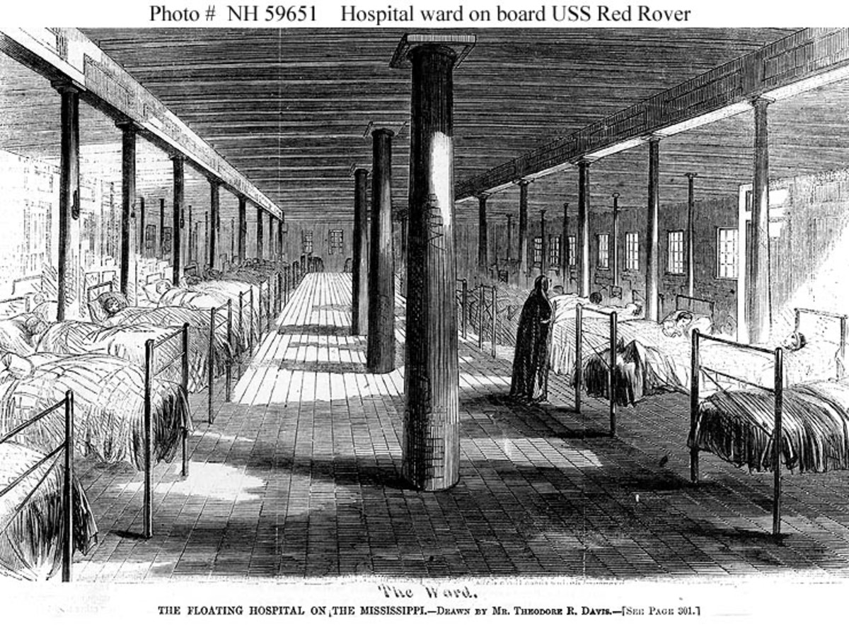 USS Red Rover, which sailed 1862-1865, illustrated by Theodore R. Davis. The picture is a ward on this early US hospital ship. Health related Centers of Excellence develop better healthcare practices for current and future needs.