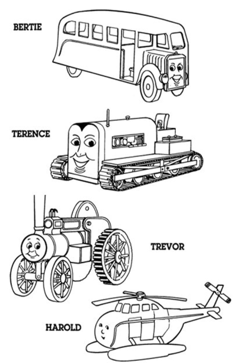 Friends of Thomas - Early Childhood Education Programs Free Colouring Pictures to Print-and-Colour