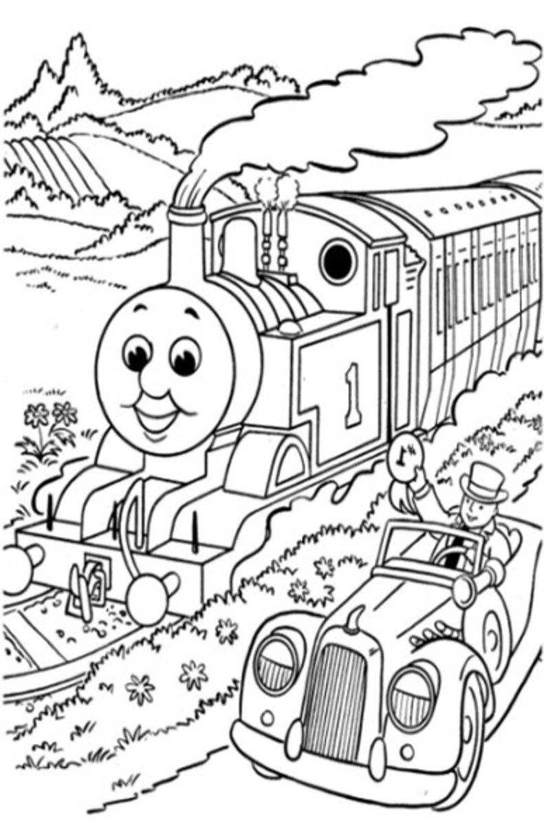 Racing Fun - Early Childhood Education Programs Free Colouring Pictures to Print-and-Colour