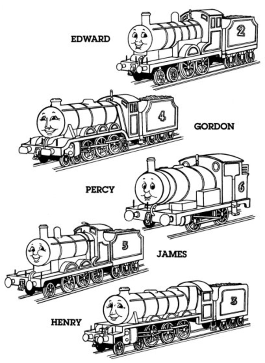 Thomas Tank Engine Train Kids Coloring Pages with Free Colouring Pictures to Print