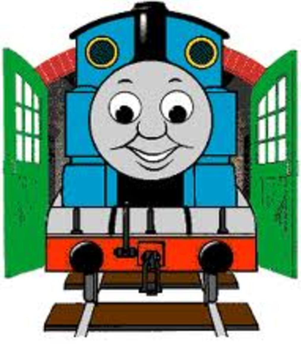 Thomas Tank Engine Train - Kids Coloring Pages Color Example