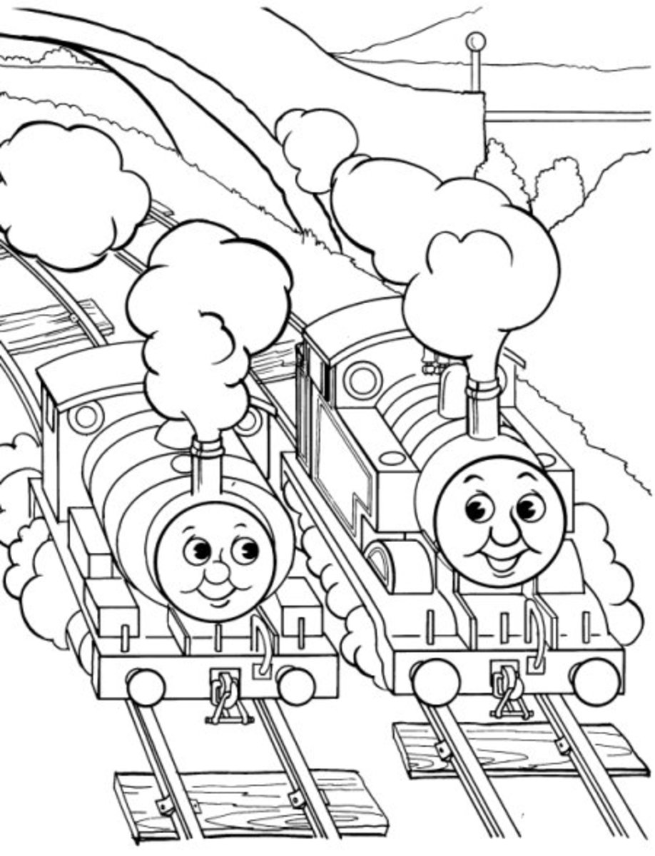 Friends chatting early childhood education programs free for Emily the tank engine coloring pages