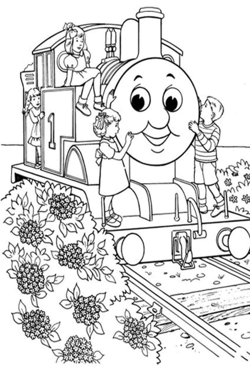 Kids Love Thomas - Early Childhood Education Programs Free Colouring Pictures to Print-and-Colour