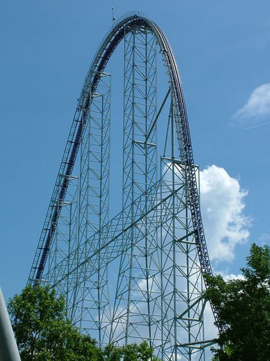 Millenium Force at Cedar Point in Sandusky, Ohio has been scaring riders for years.