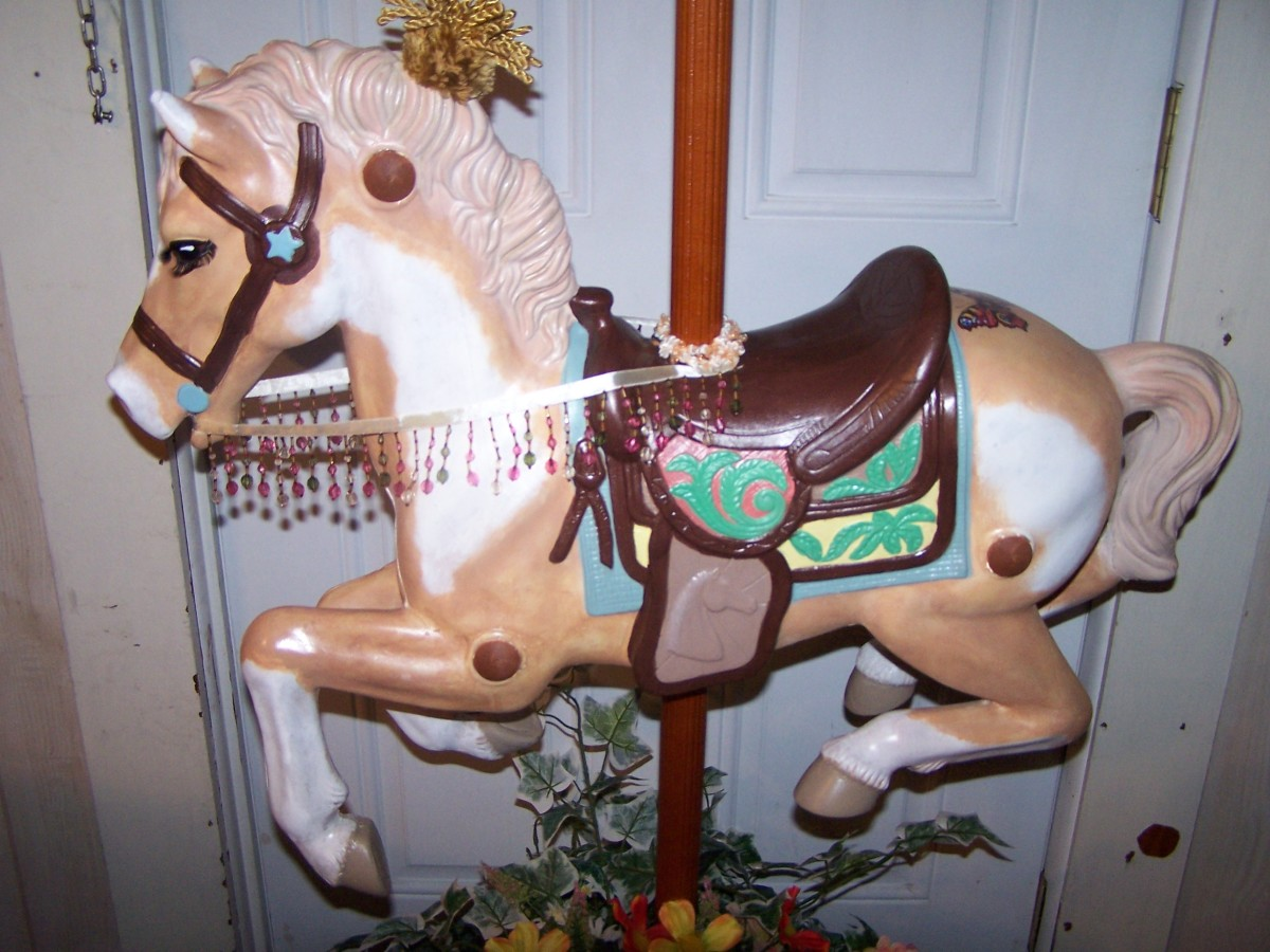 How To Create Your Own Carousel Horse and Stand From Childs Hobby Horse Part 1