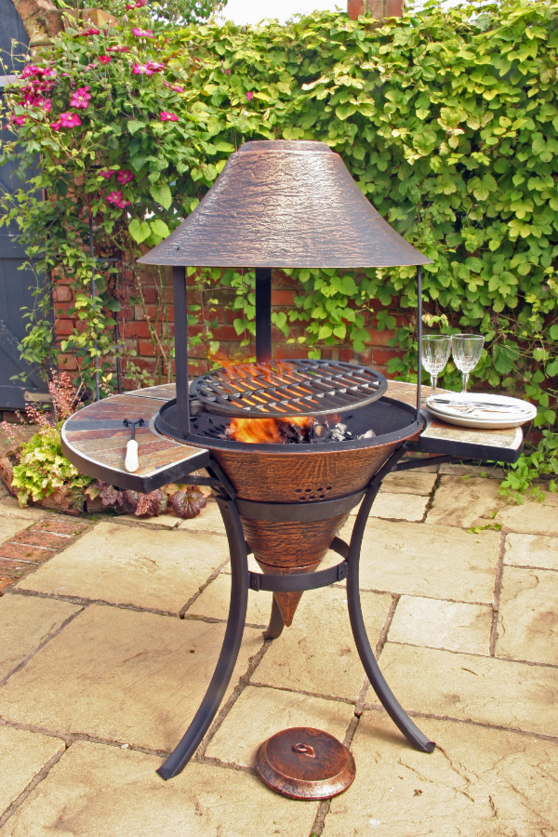 New style Chiminea BBQ