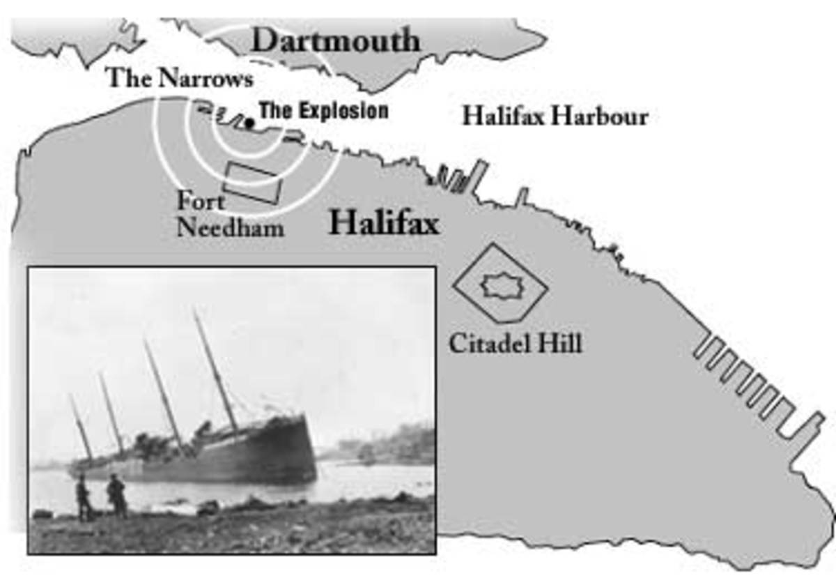 Map of explosion area. Image credit: Maritime Museum of the Atlantic