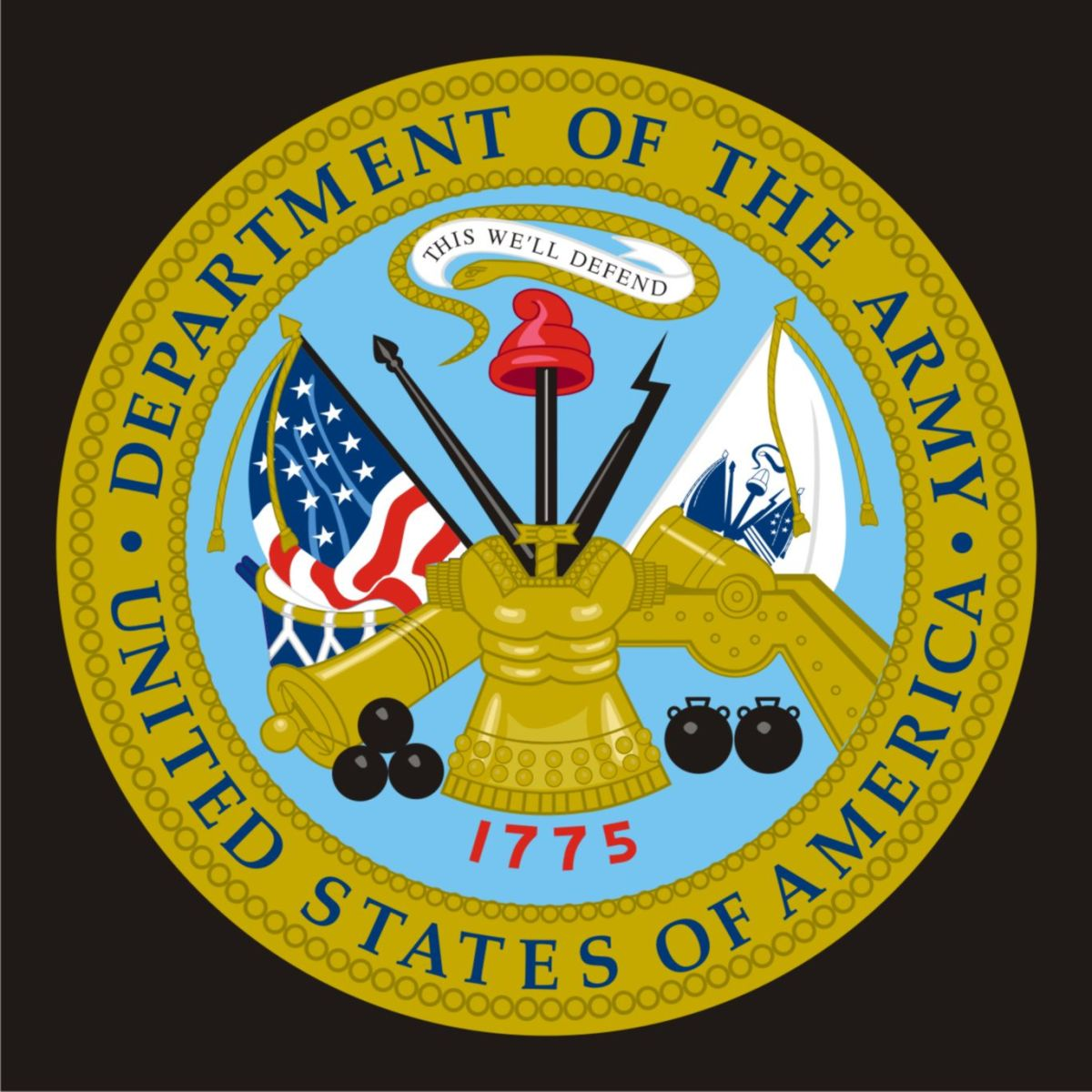 U.S. Army Seal vectored.