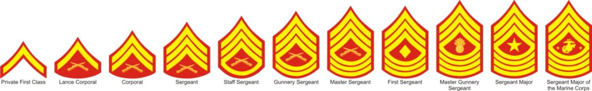 U.S. Marine Patches vectored.
