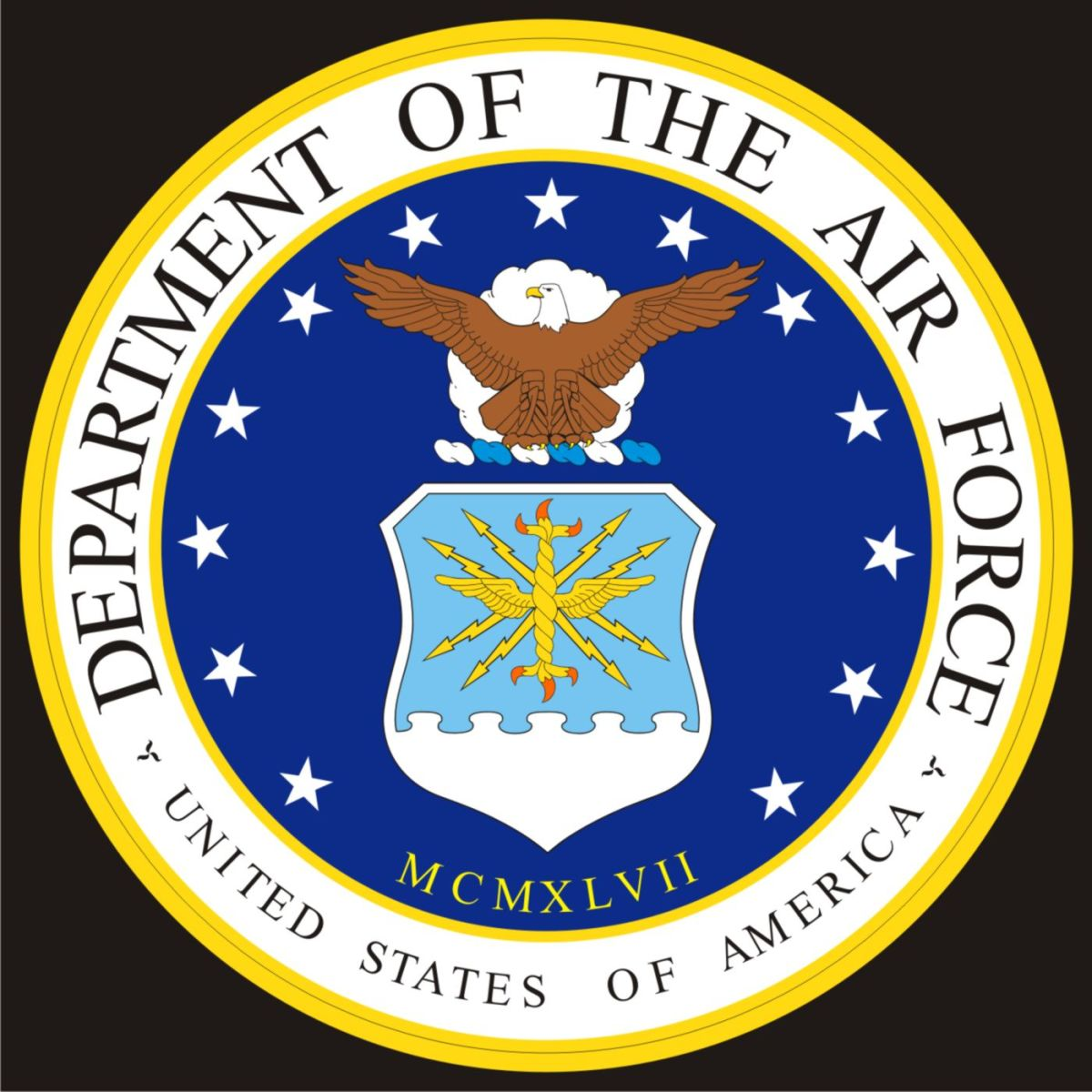U.S. Air Force Seal vectored.