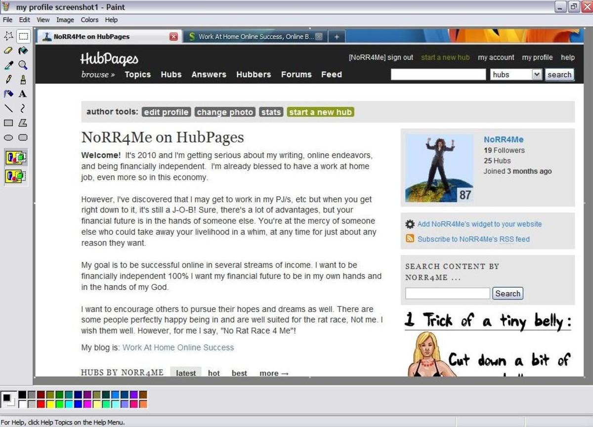 Your screenshot should be showing in Paint program. You can edit your screenshot if you wish.