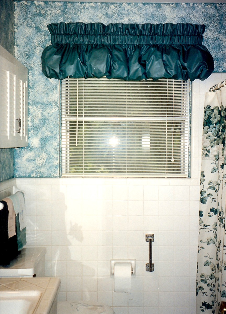 After picture in bathroom