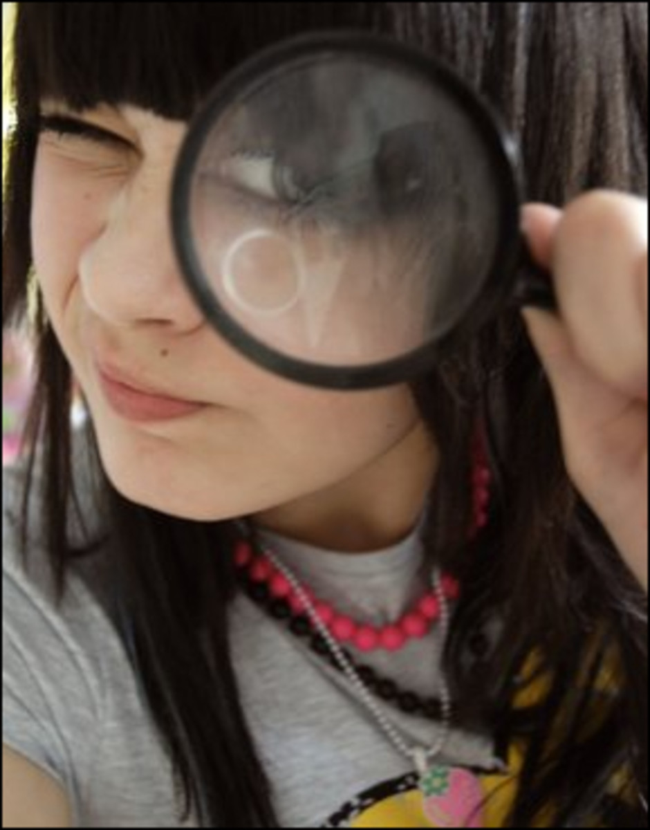 Magnifying Glass all scientists have one.
