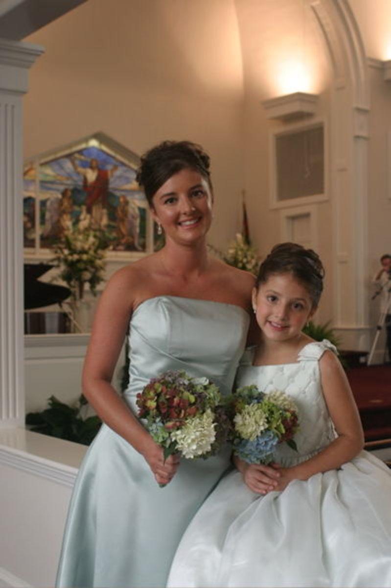 Bridesmaid and Junior Bridesmaid