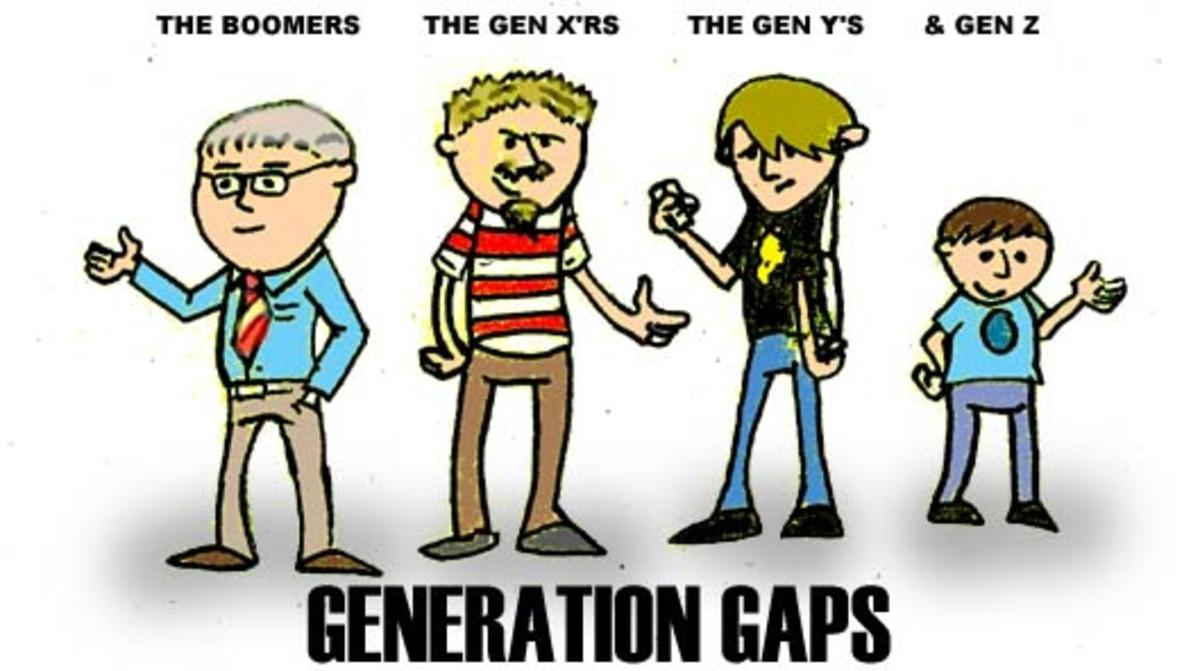 Generation Gaps Four Generations Born Apart