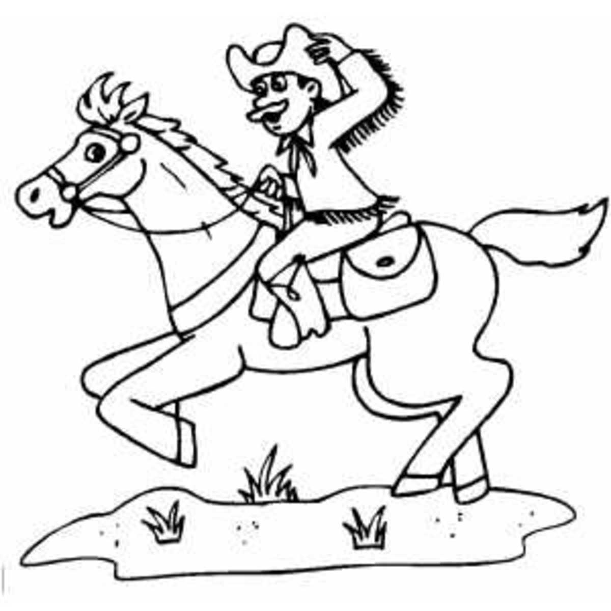 western coloring pages for kids - photo#26