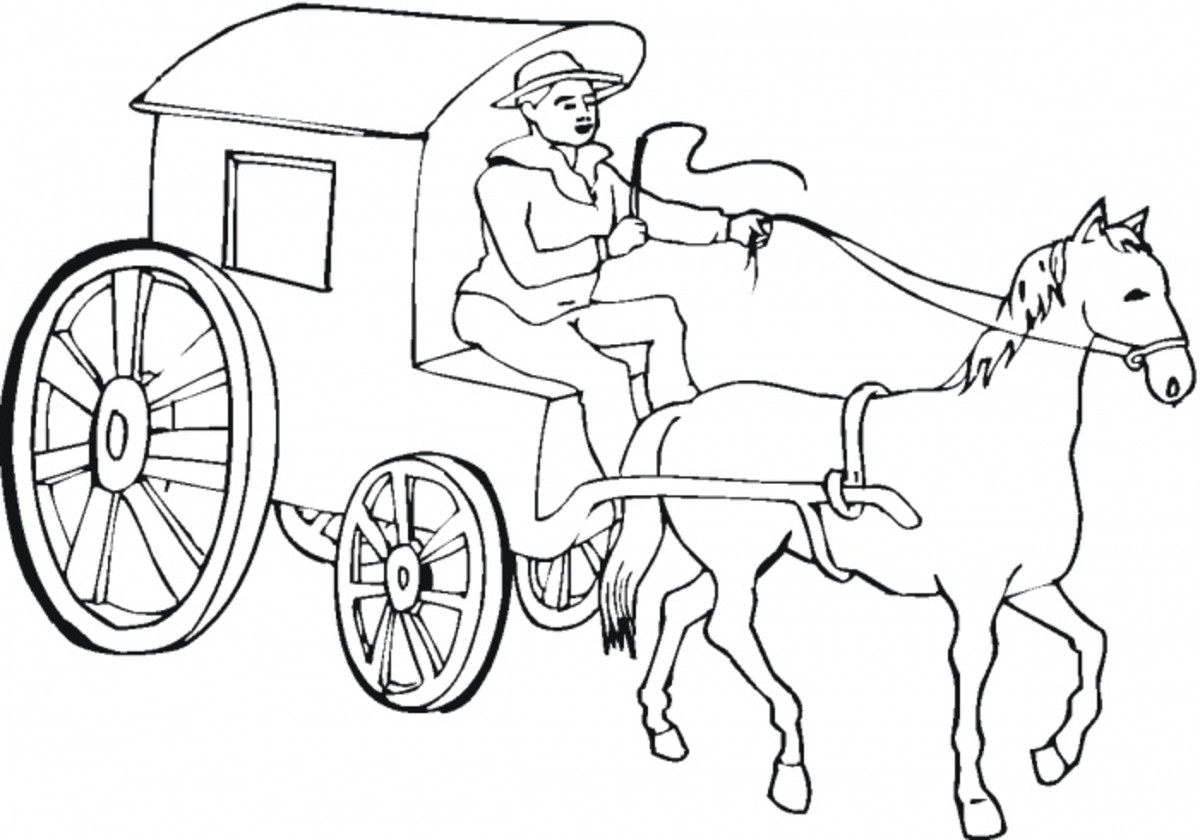 Stagecoach Coloring Pages For Kids. second life marketplace covered ...