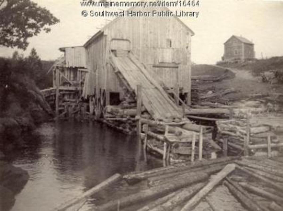 Higgins Saw Mill, Somesville, Maine 1890. Photo Credit: Henry L. Rand/Maine Memory Network