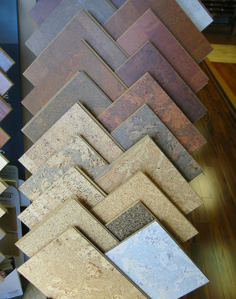 Some cork flooring options.