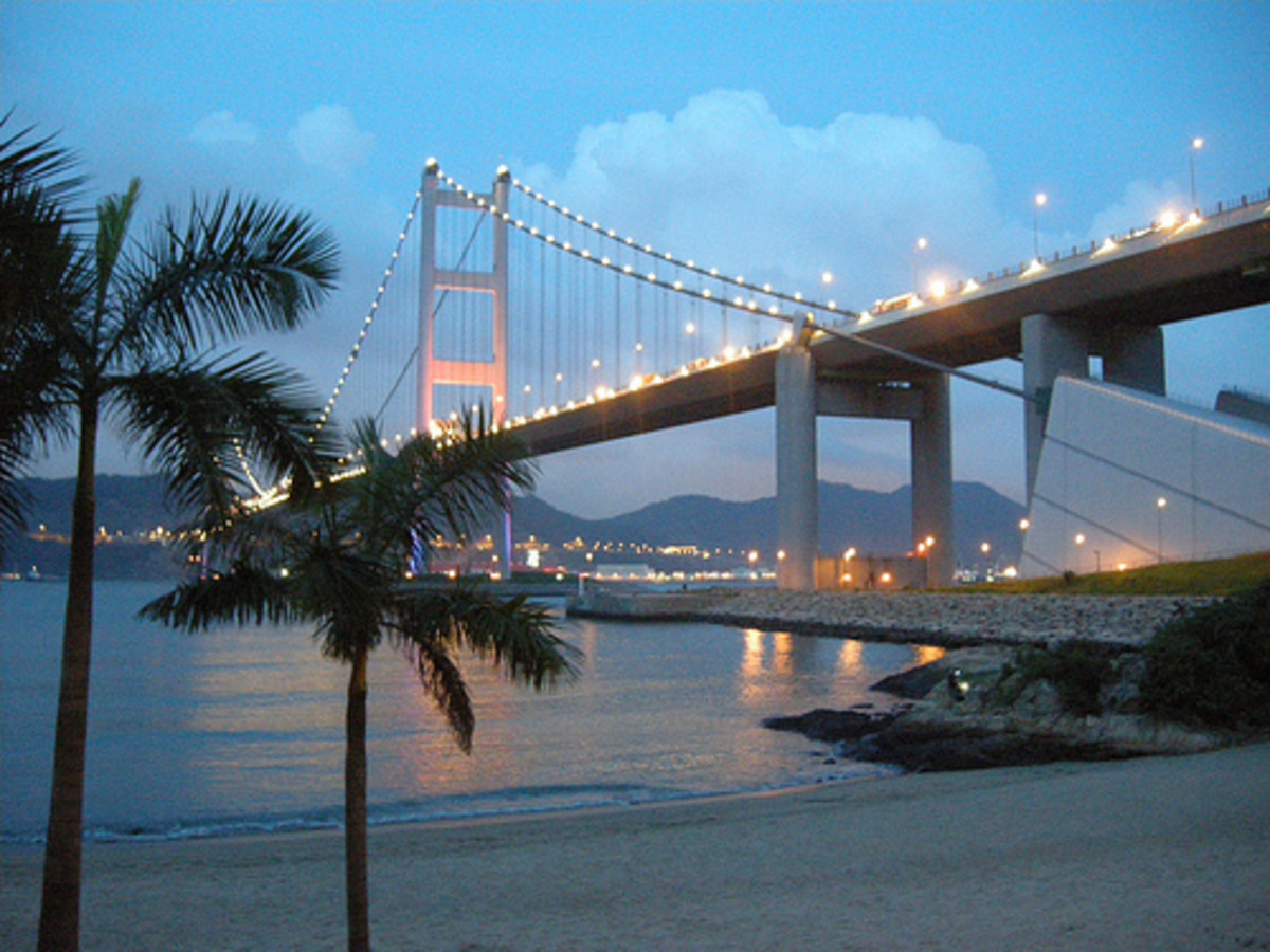 Tsing Ma Bridge.