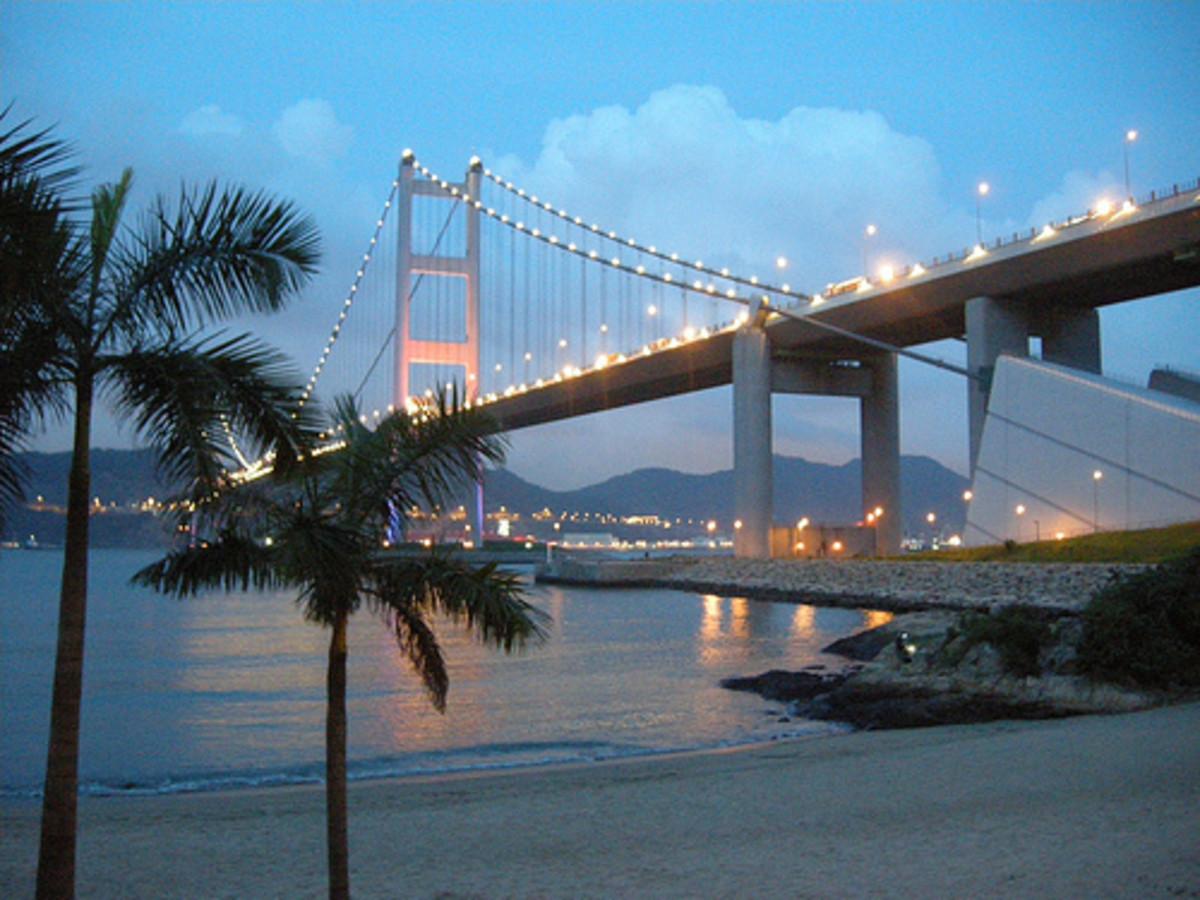 Tsing Ma Bridge.