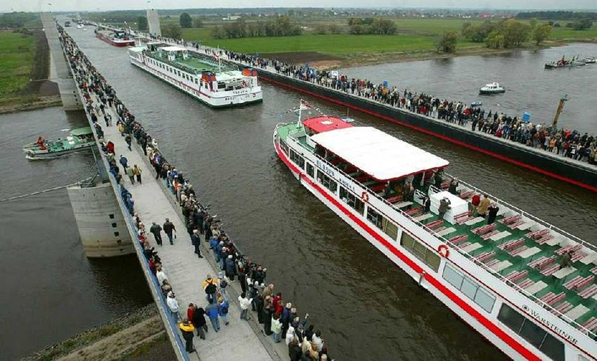 Magdeburg Water Bridge.