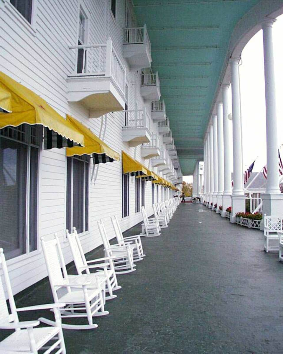Looking at Front Porch of the Grand Hotel, Some 660 Feet