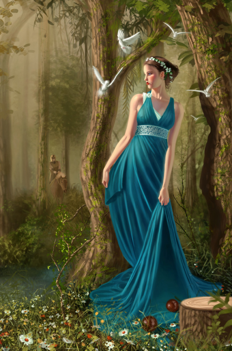 Persephone, daughter of Mother Earth, a Tale of Greek Mythology and the Underworld
