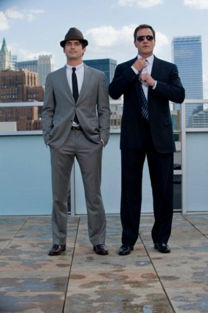 Neal Caffrey & Agent Burke strike a pose
