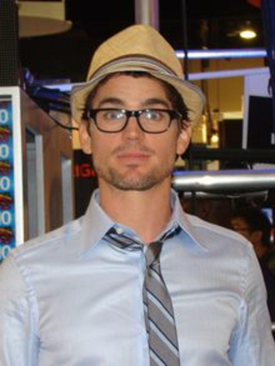 Matthew Bomer wearing a Straw Fedora Hat