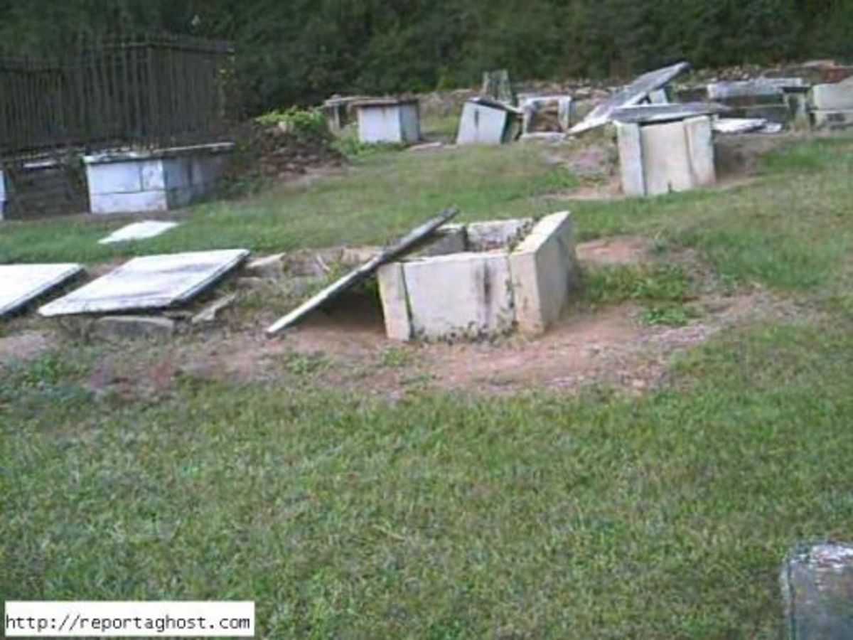 The Graveyard on Boundary Street in Newberry South Carolina is one of the most haunted locations.