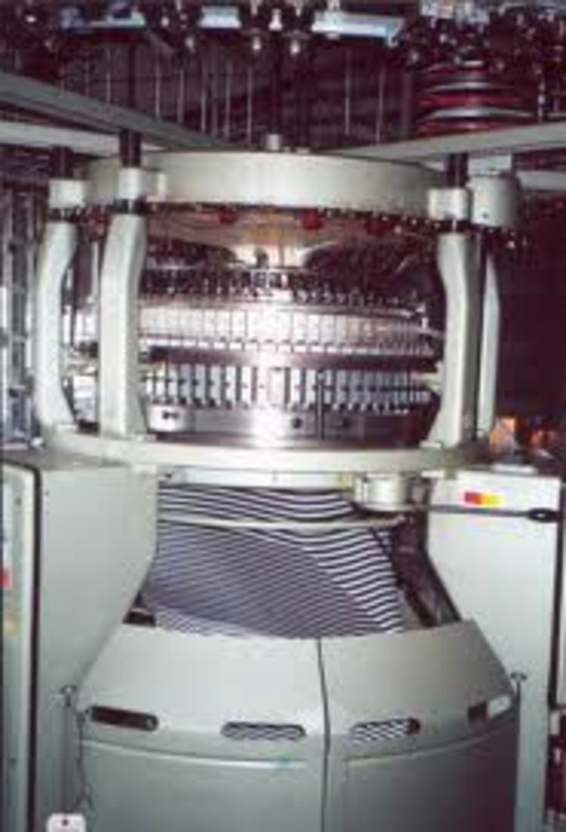 interlock/ribbing single knit tube knitting machine