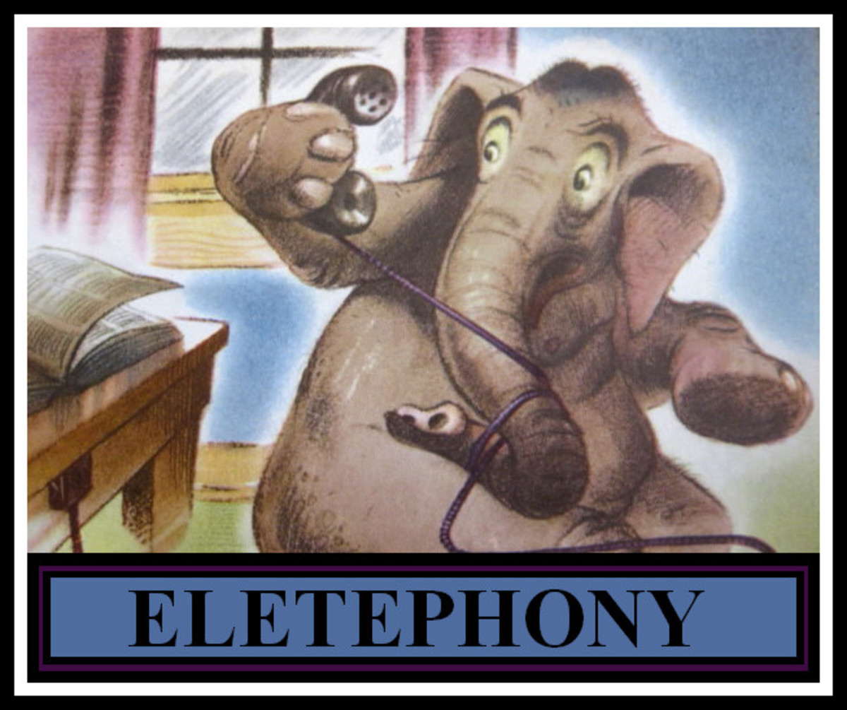 We don't let our elephants use the telephone!