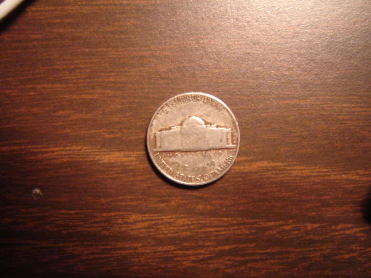 "Normal nickel before1980.  Note small ""D"" at right of building.  This is a 1953, a common date and mint."