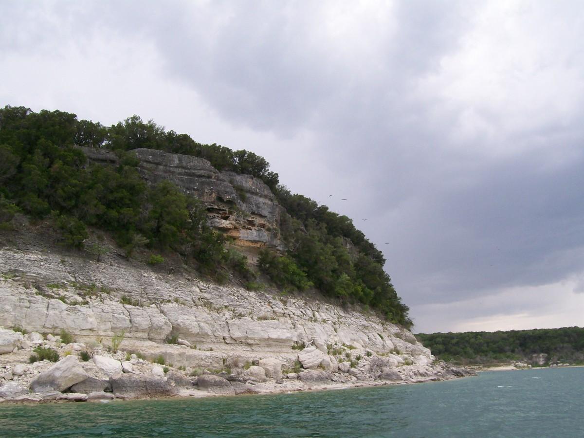 Scenic views at Belton Lake TX
