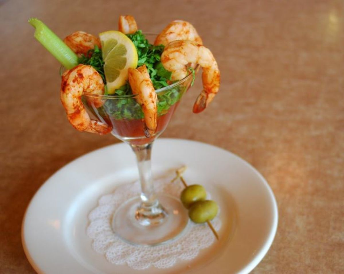 Their signature Bloody Mary Shrimp Cocktail